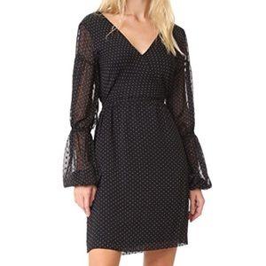 Club Monaco Jowdie Black & White Polka Dot Dress